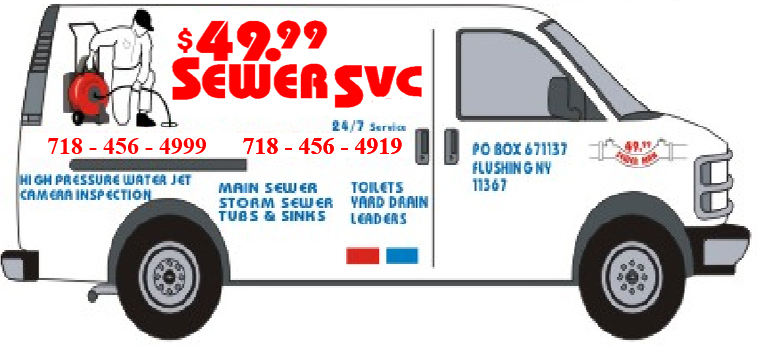 $49.99 Sewer And Drain Cleaning Service Van
